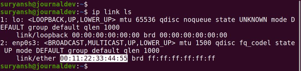 Verifying Spoofed MAC Address